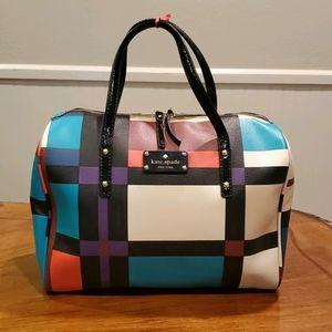 Kate Spade graphic plaid handbag